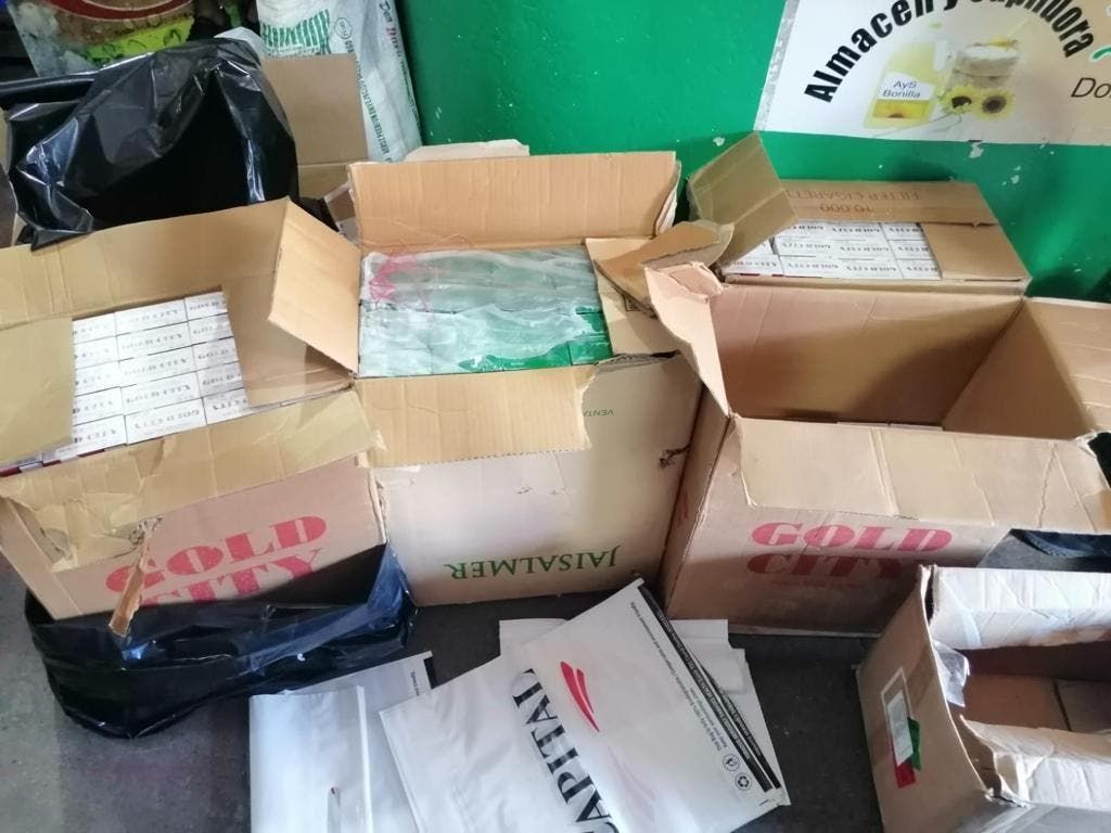 Incautan 31,884 cigarrillos presuntamente adulterados en San Pedro de Macorís