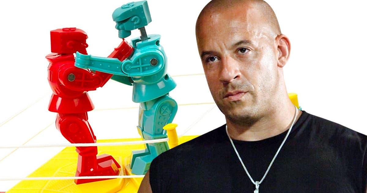 """Vin Diesel llevará al cine el juego de mesa """"Rock 'Em Sock 'Em Robots»"""
