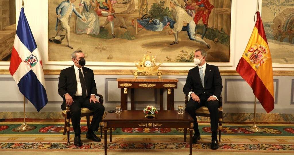 Presidente Abinader se reúne con el rey de España, Felipe VI; tratan varios temas