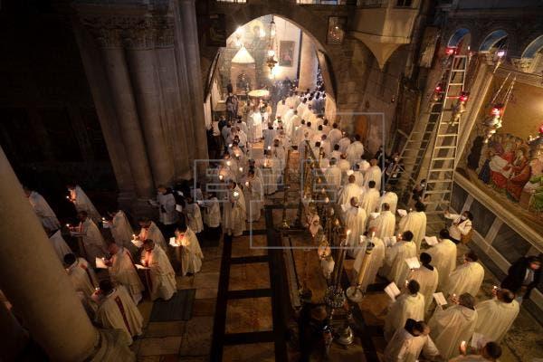 Jerusalén celebra otro Jueves Santo en pandemia, pero con cierta normalidad