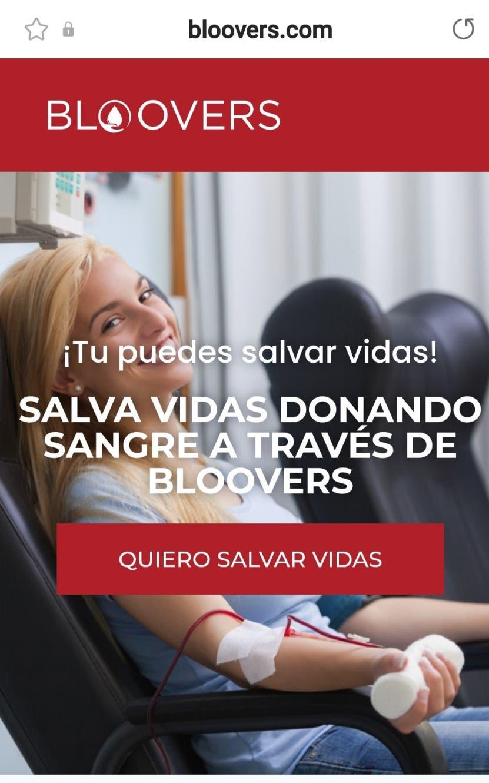 Bloovers, la  aplicación que conecta personas que necesitan sangre