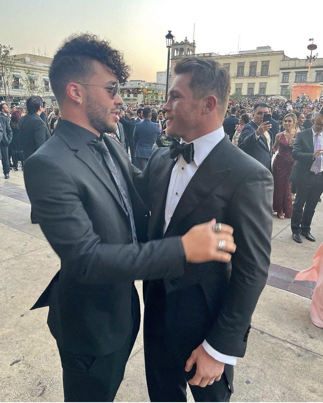 J Balvin y Prince Royce asistieron a la boda del Canelo