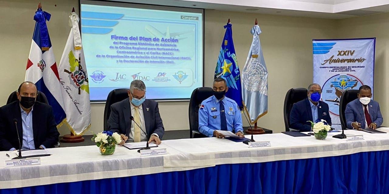 Junta de Aviación Civil suscribe acuerdo con OACI para mejorar servicios transporte aéreo de RD