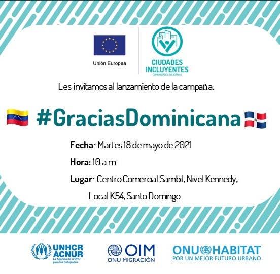Venezolanos residentes en RD realizarán acto de agradecimiento mañana