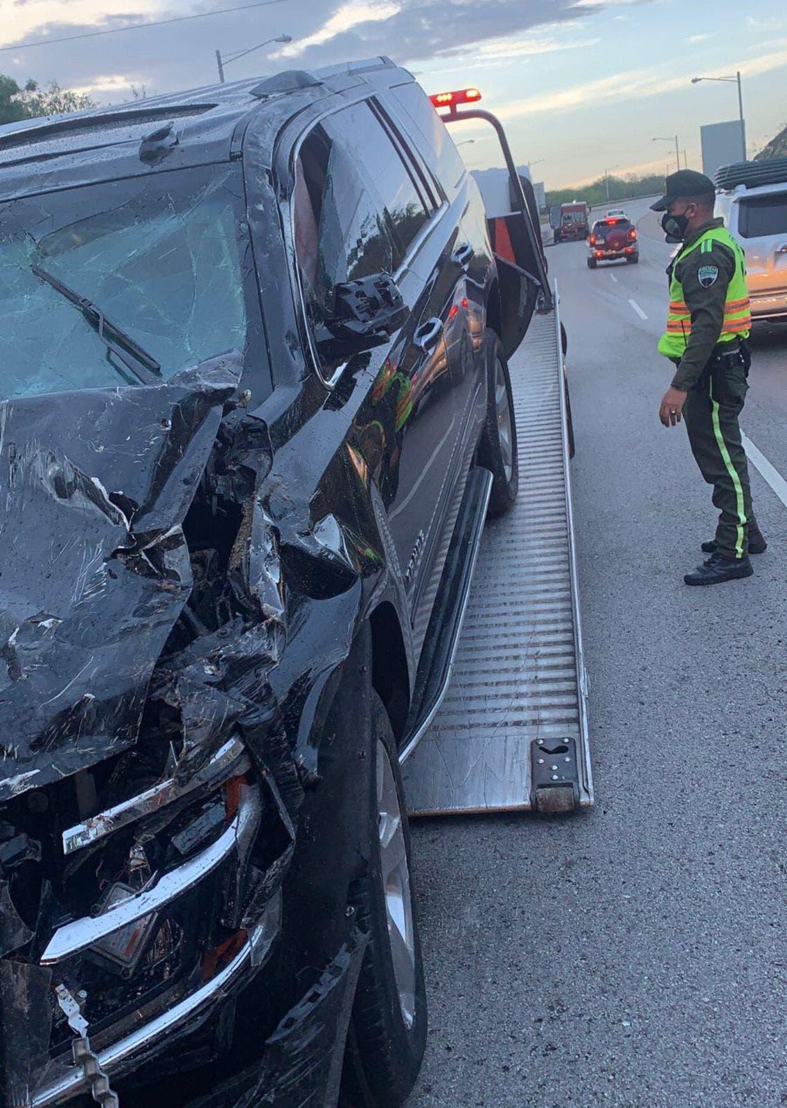 Director DGII sufre accidente mientras se desplazaba hacia el Este