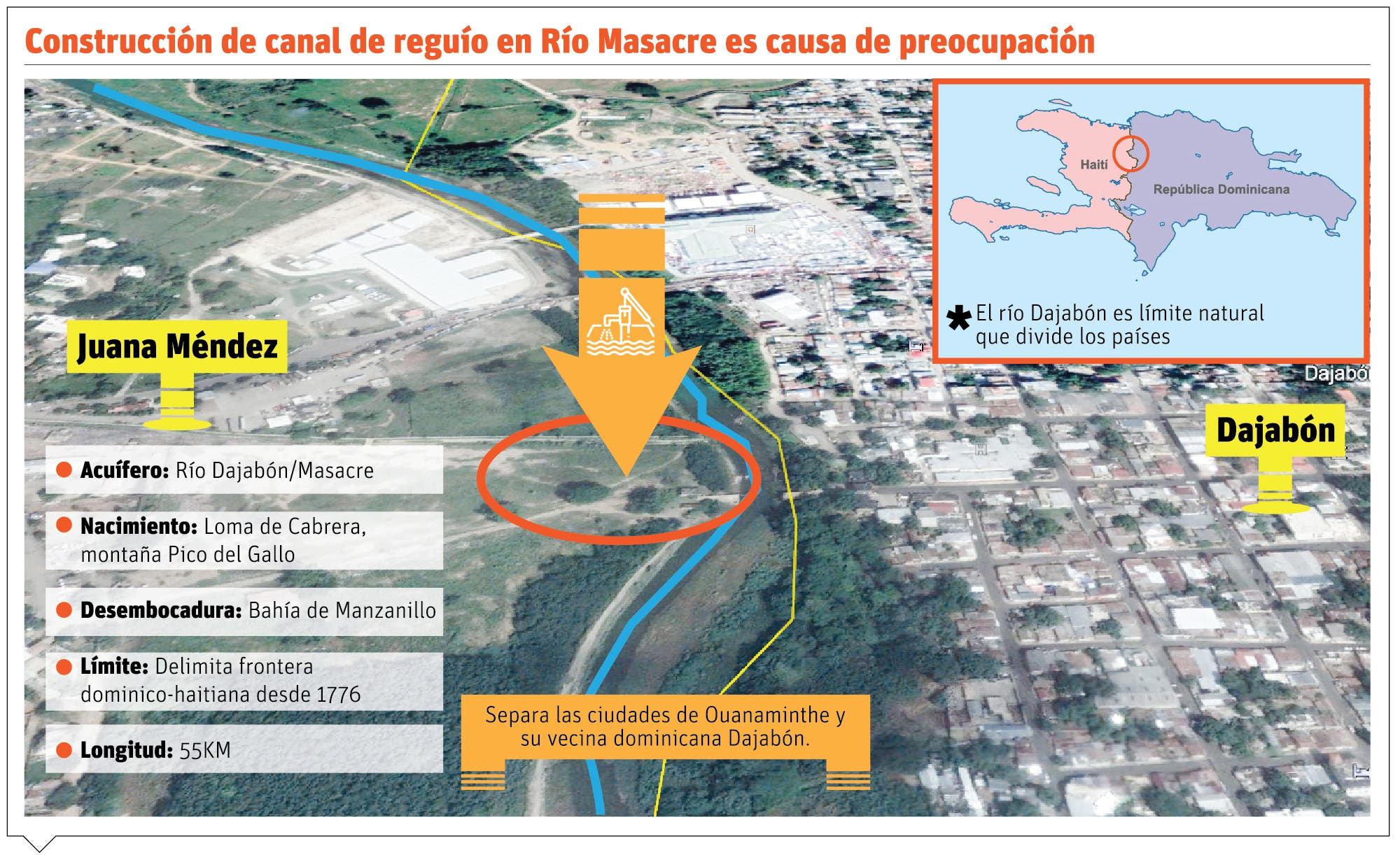 República Dominicana reconoce canal construye Haití no desviará río Masacre