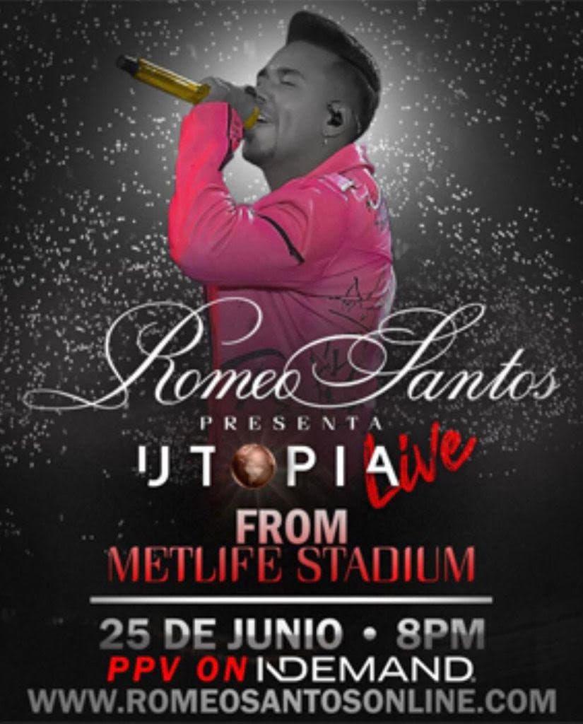 Romeo Santos lanzará dos filmes sobre su vida y música, el 25 de junio