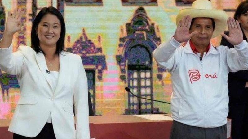 Fujimori aventaja a Castillo en 0,7 puntos, con el 90,5 % de votos contados