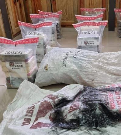 La DNCD decomisa  66 kilos de drogas Este