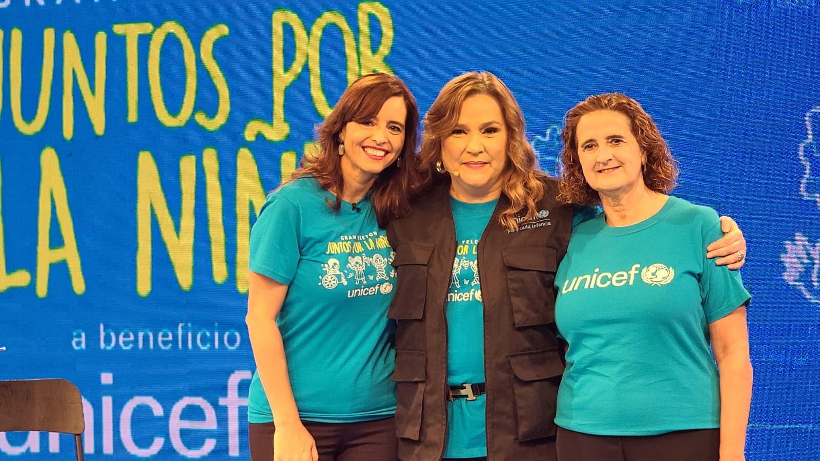 Teletón de UNICEF recauda más de tres millones para apoyar programas sociales a favor de la infancia