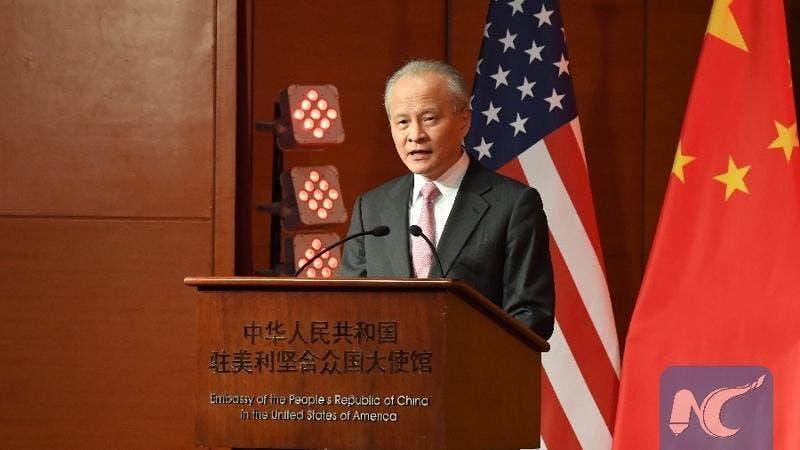 El embajador chino en Washington deja su puesto tras ocho años difíciles