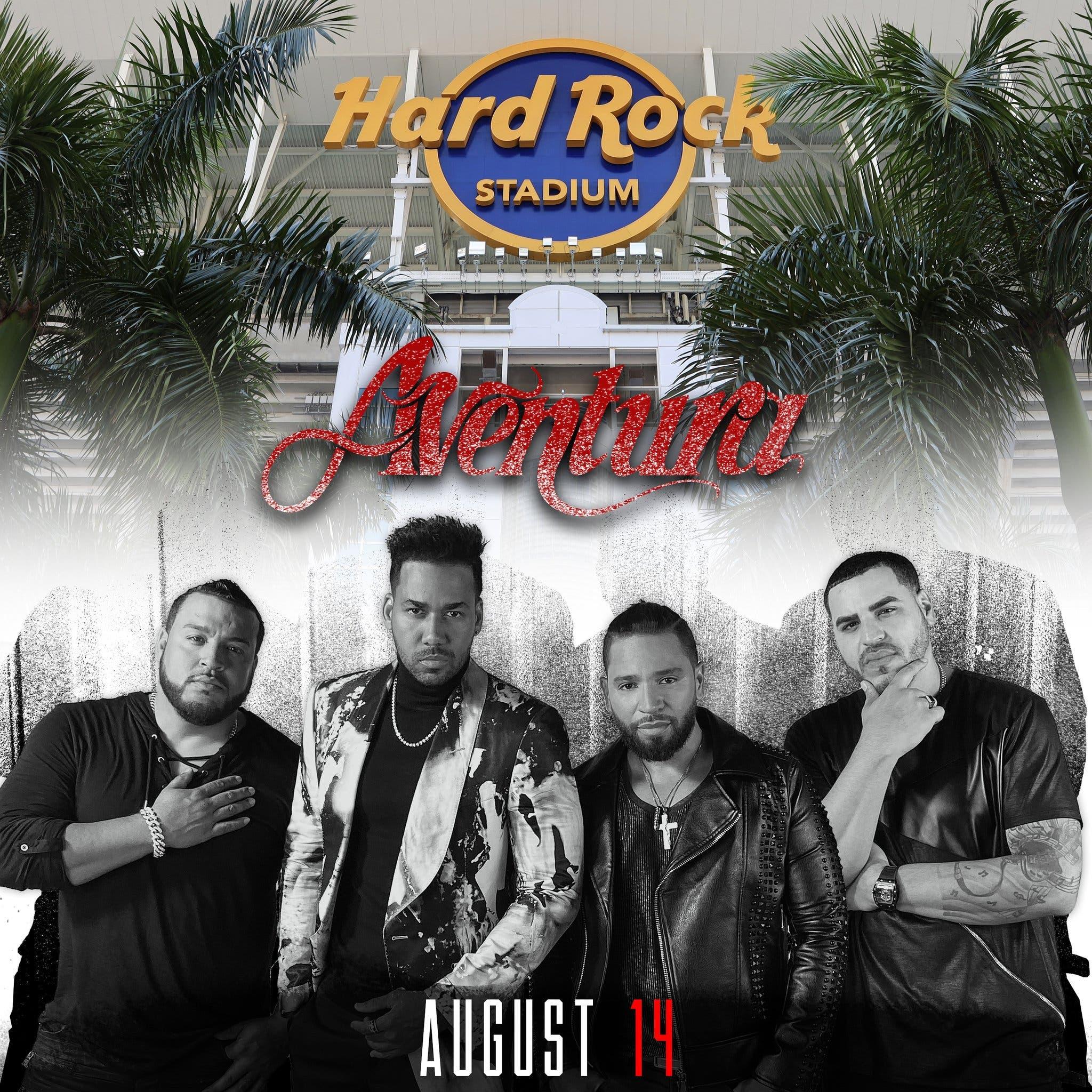 El último concierto de Aventura será en Miami el 14 de agosto