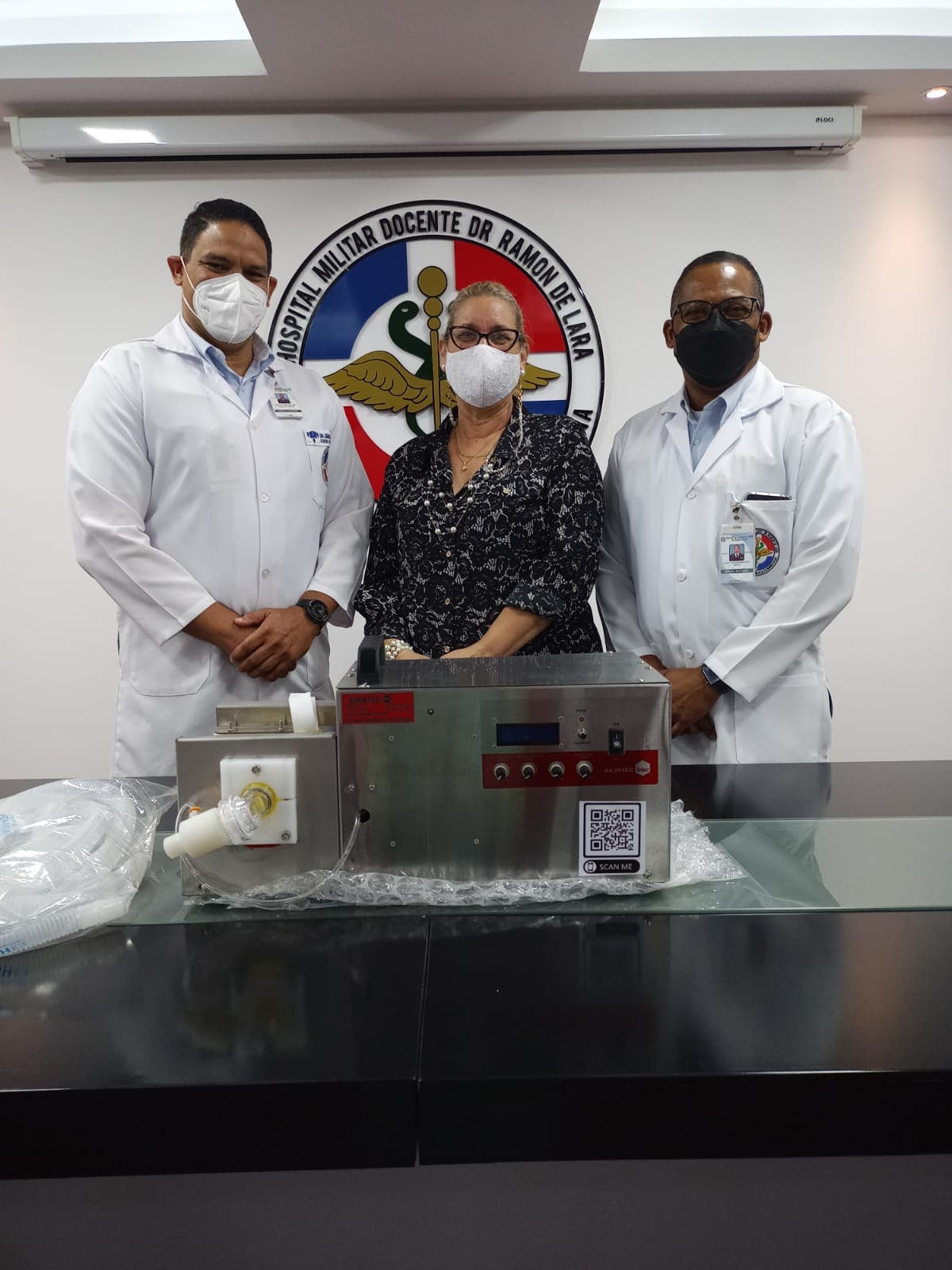 INTEC dona otros 5 ventiladores mecánicos al Hospital Dr. Ramón de Lara