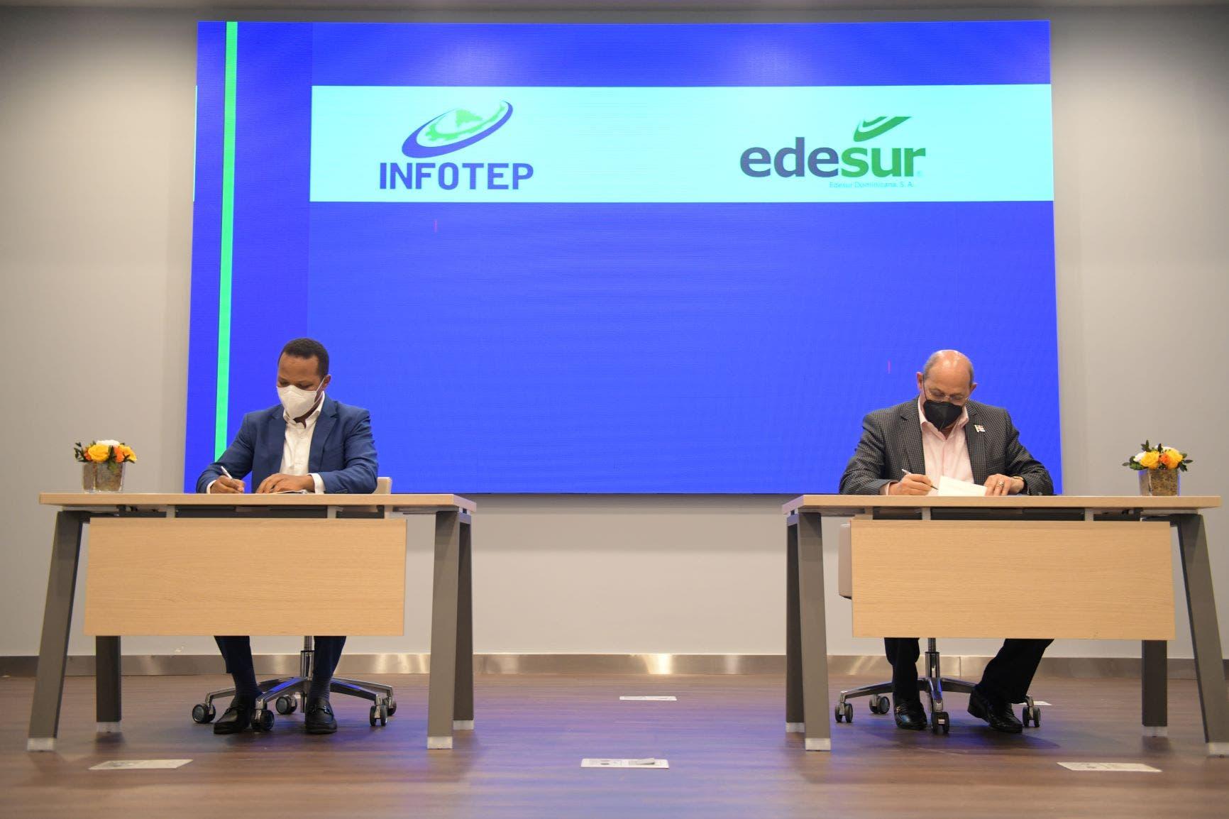 """INFOTEP y Edesur inician modalidad de pasantía """"Electricista Comunitario"""""""