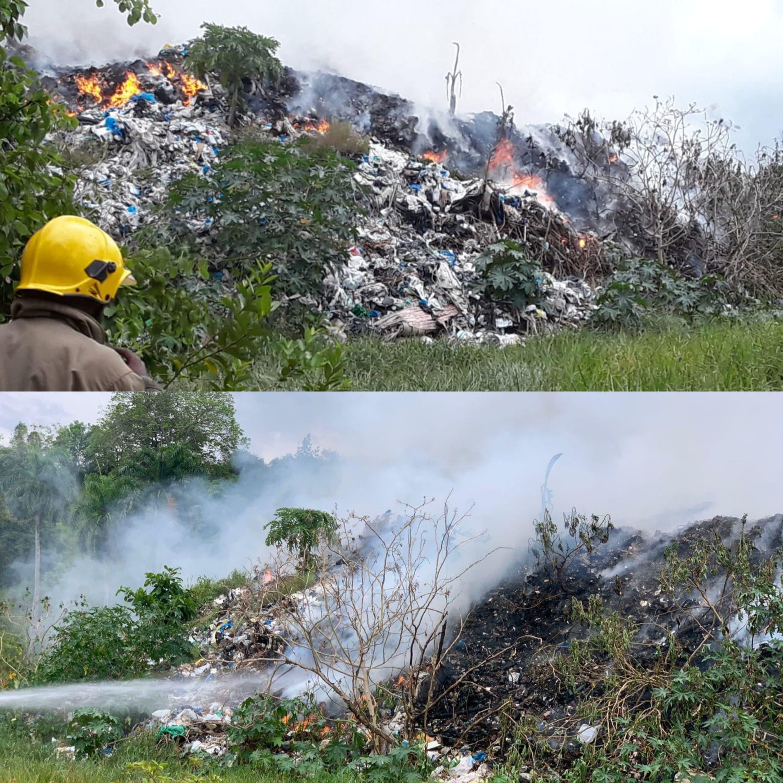 Incendio en un vertedero municipal de Puerto Plata lleva tres días