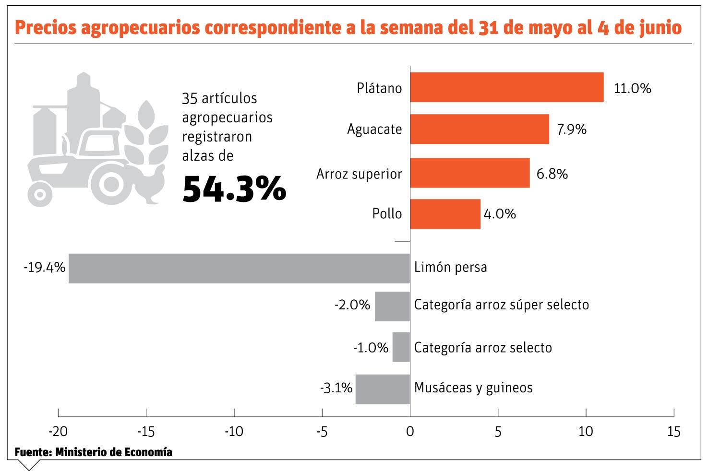Productores abogan reformas sector agrícola ante las alzas