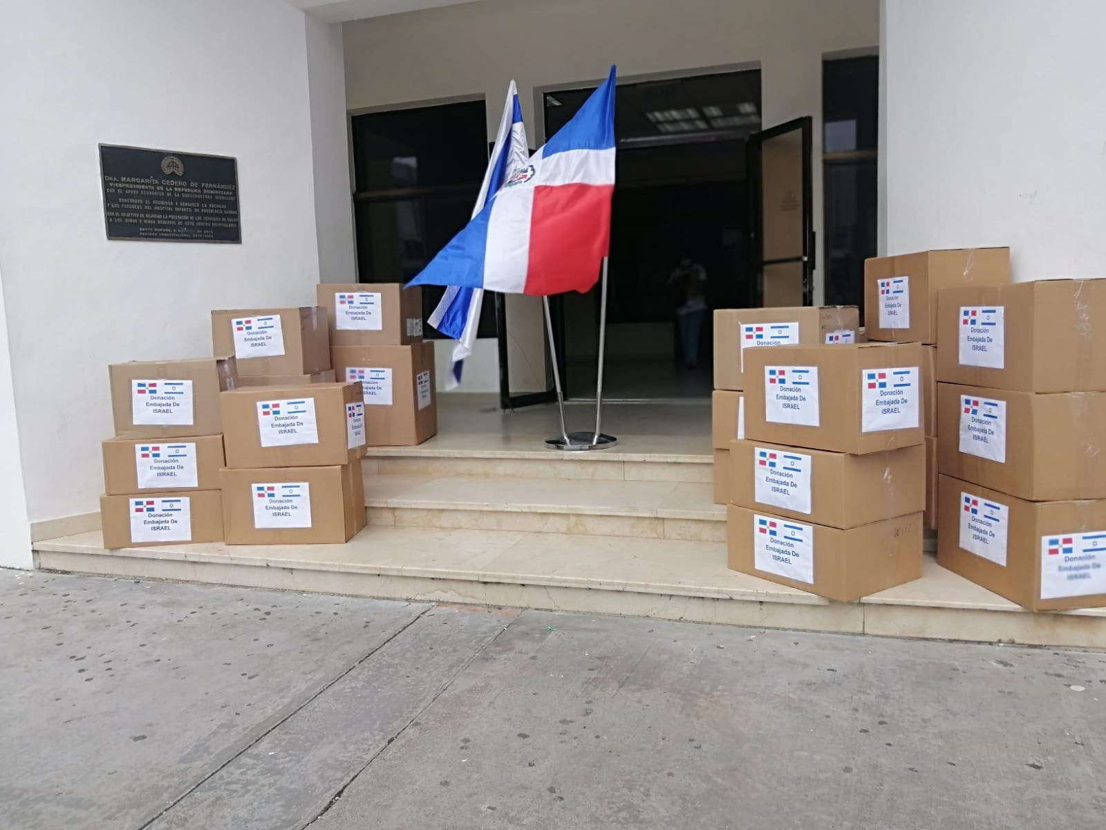 Israel dona insumos médicos al Hospital Infantil Robert Reid Cabral