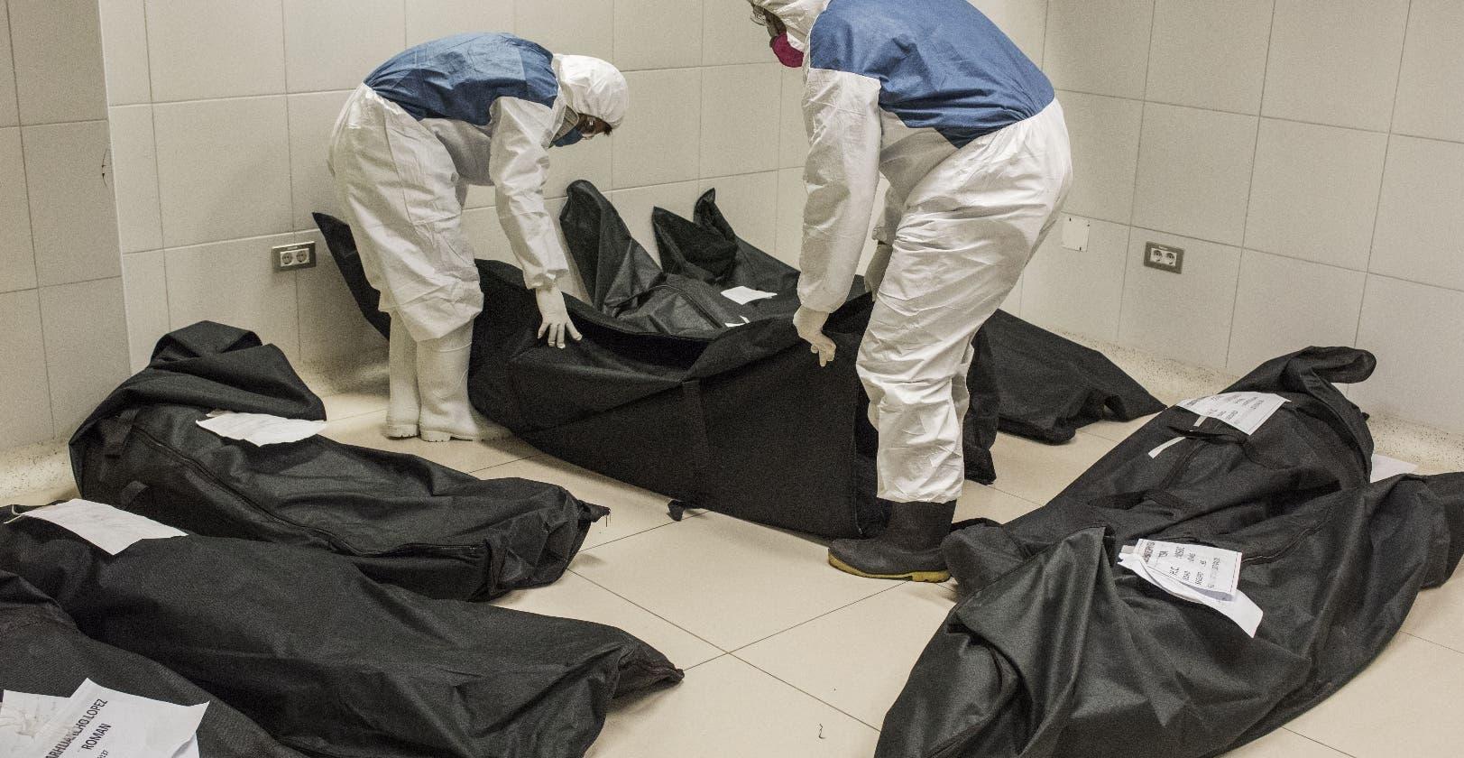 Bolsas de cadáveres Covid, alto foco de contagio familiares