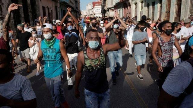 """EEUU, """"muy preocupado"""" por la llamada de Díaz-Canel a """"combatir"""" protestas"""