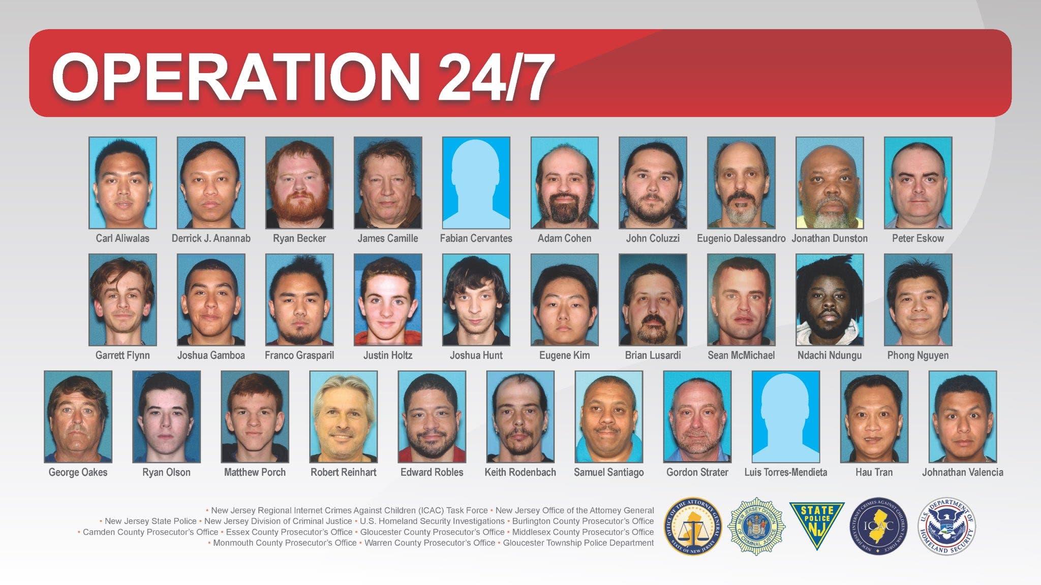 Nueva Jersey arresta a 31 personas por explotación sexual infantil en la red
