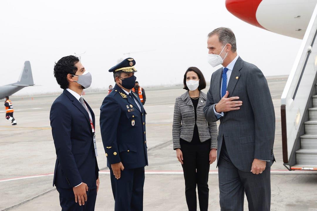 Felipe VI llega al Perú para asistir a la toma de mando de Pedro Castillo