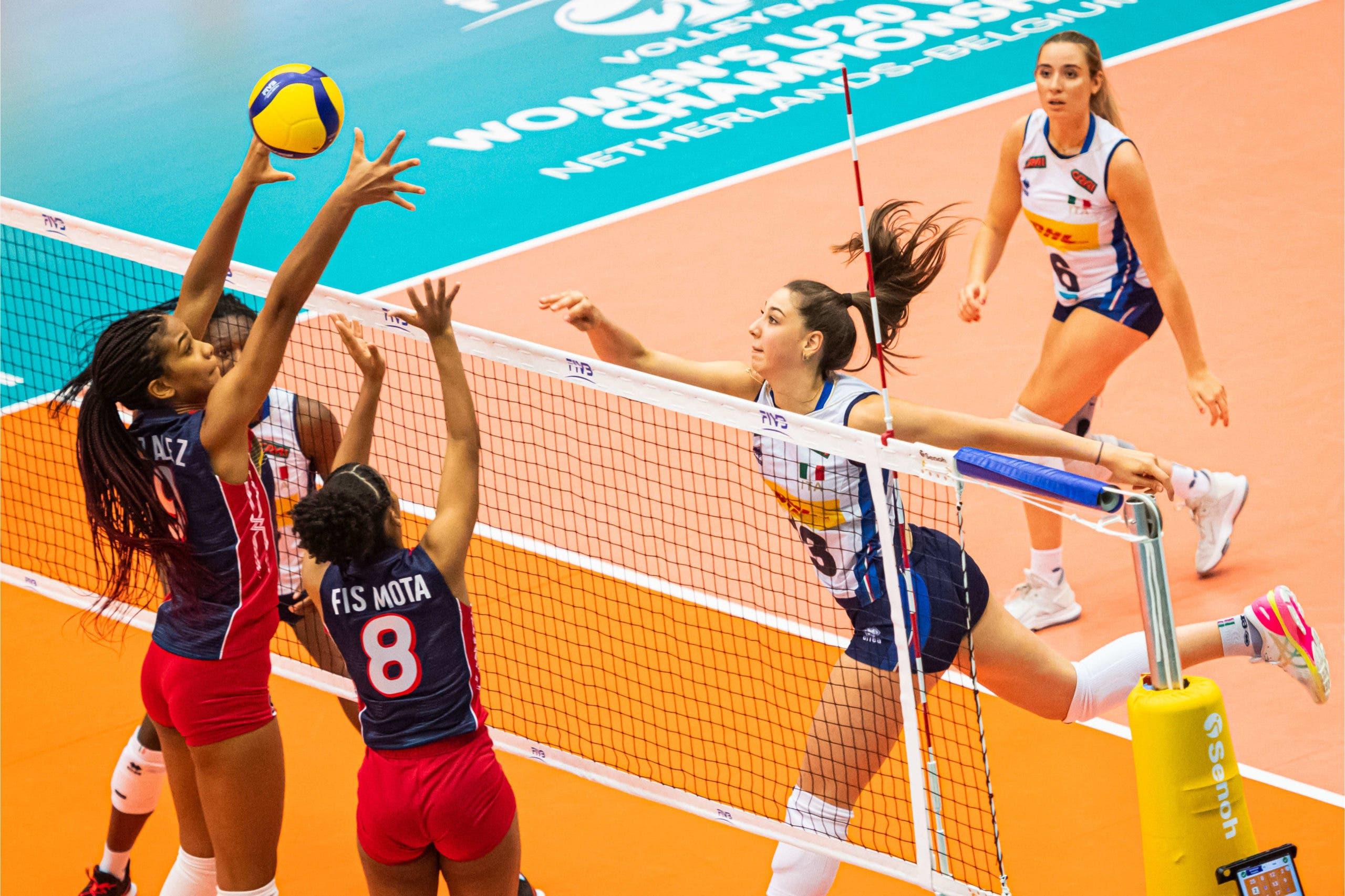 Italia vence 3-0 a República Dominicana en Mundial de Voleibol Femenino Sub-20