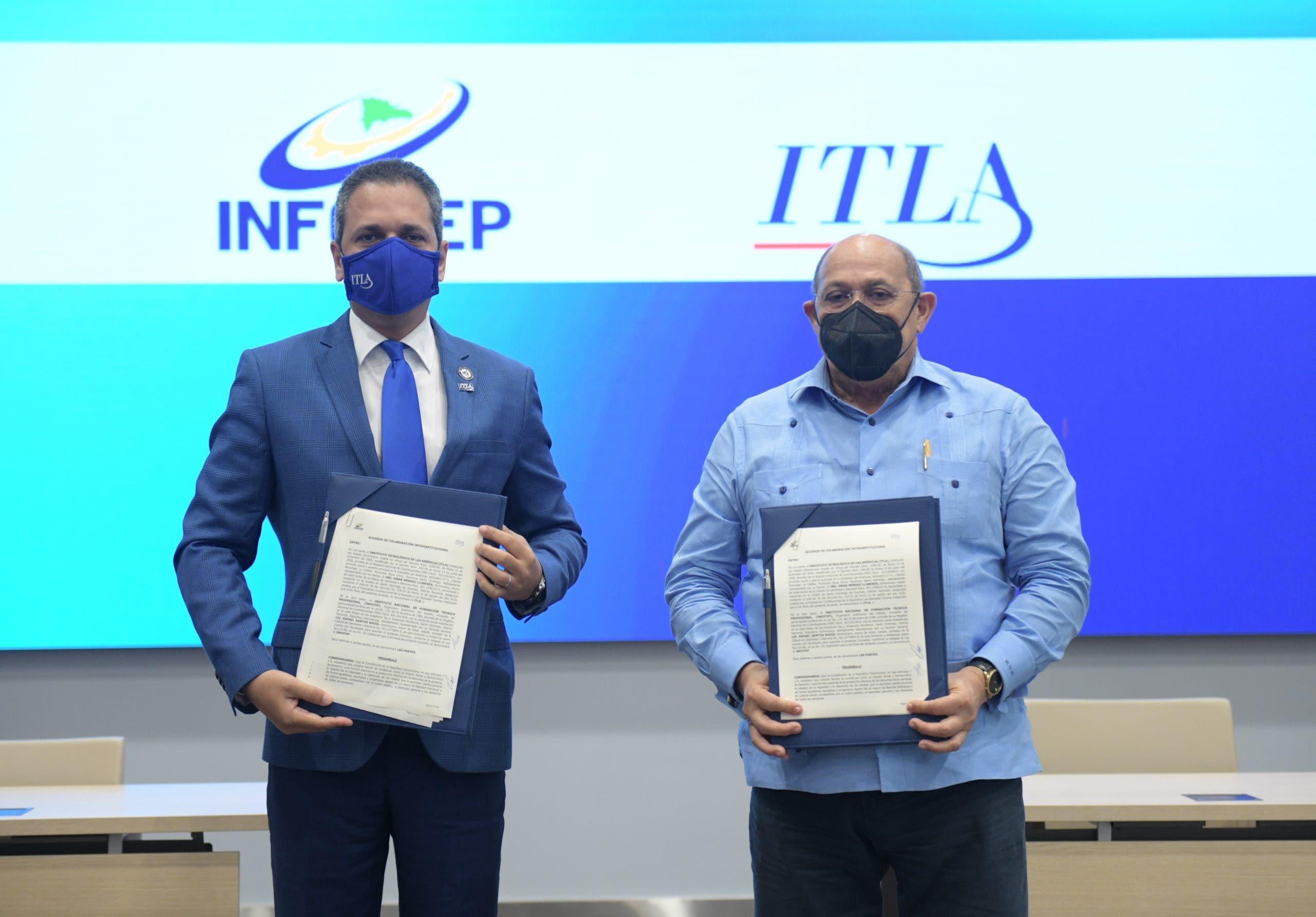 El INFOTEP y el ITLA establecen alianza para desarrollar una oferta tecnológica especializada