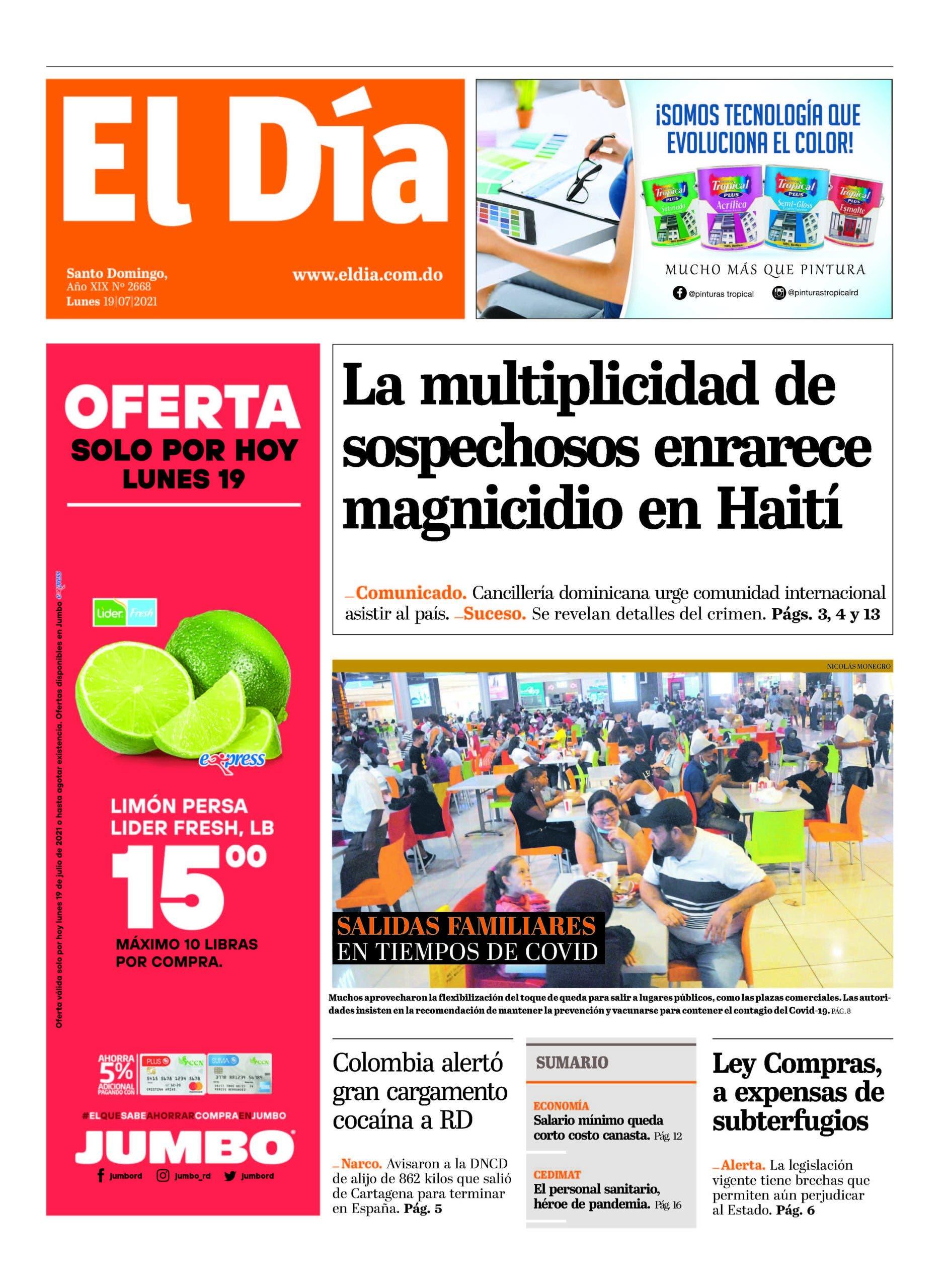 Edición impresa 19-7-2021