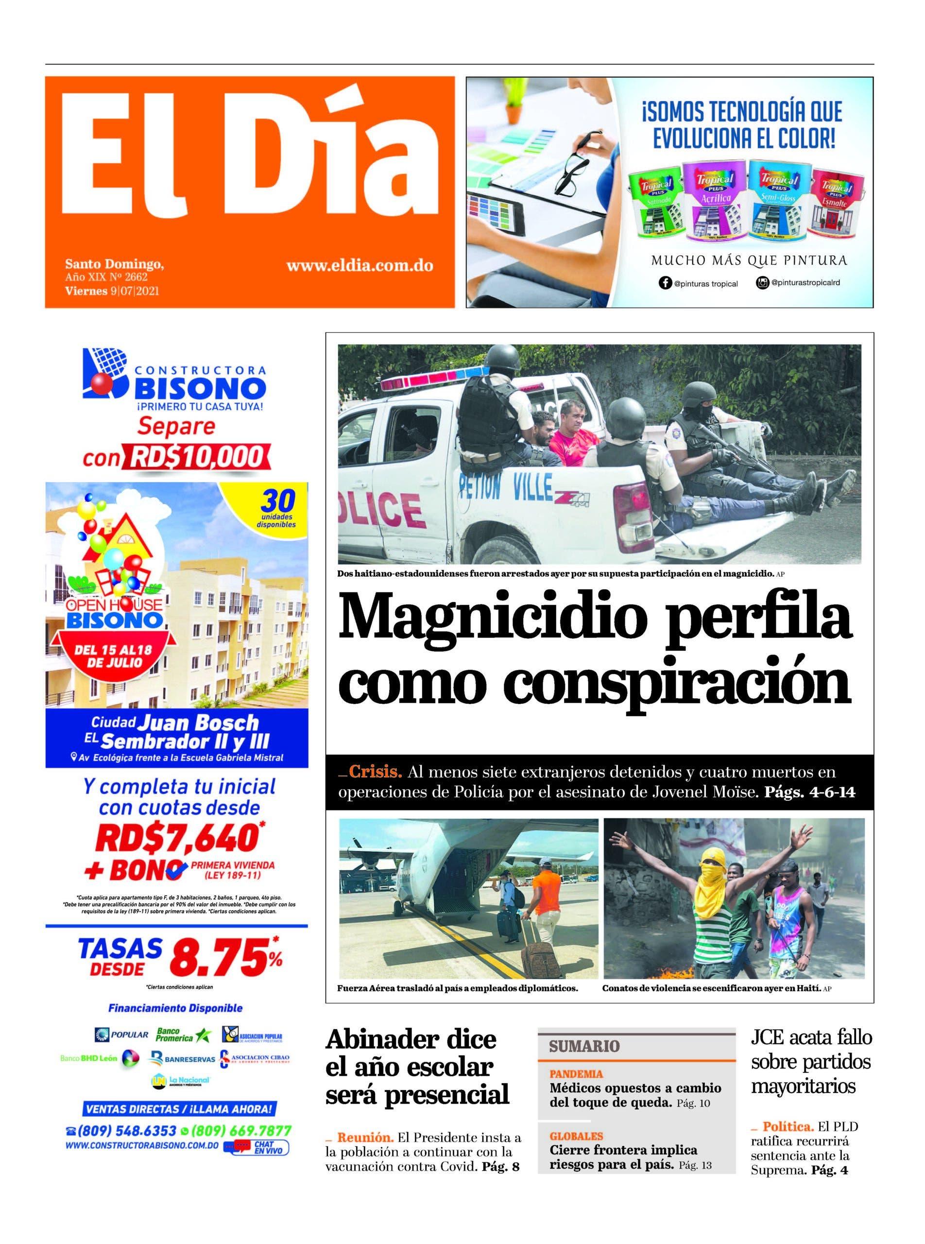 Edición impresa 9-7-2021