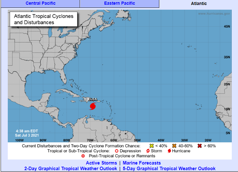 Huracán Elsa avanza hacia Haití y República Dominicana