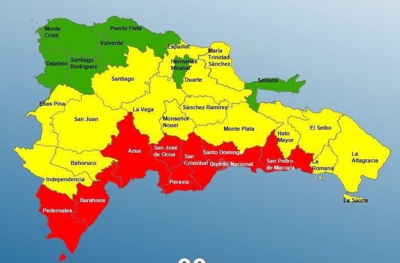 COE mantiene niveles de alerta en RD ante paso de tormenta tropical Elsa