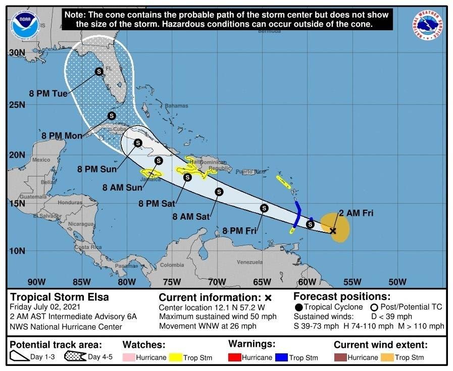 Elsa, primer huracán de 2021 en Atlántico