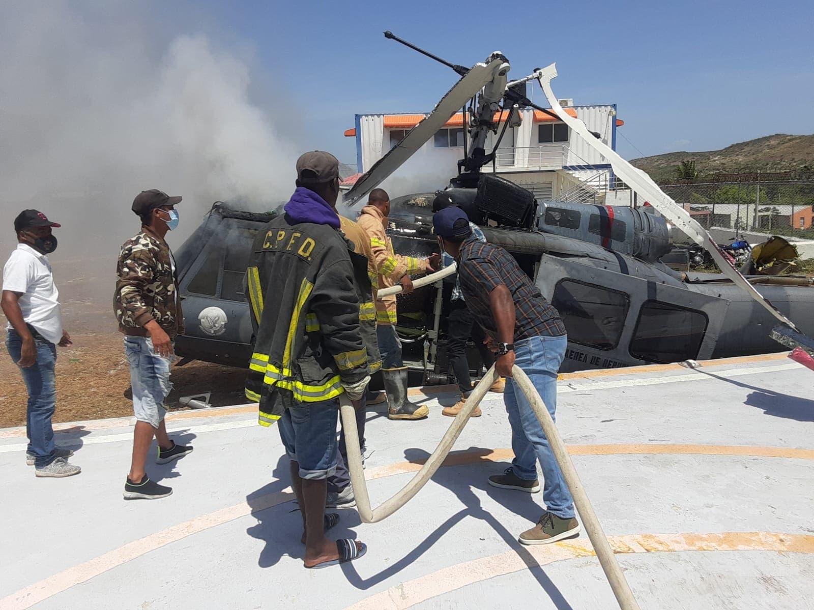 Accidente helicóptero en la frontera: «Gracias a Dios no hay muertos»