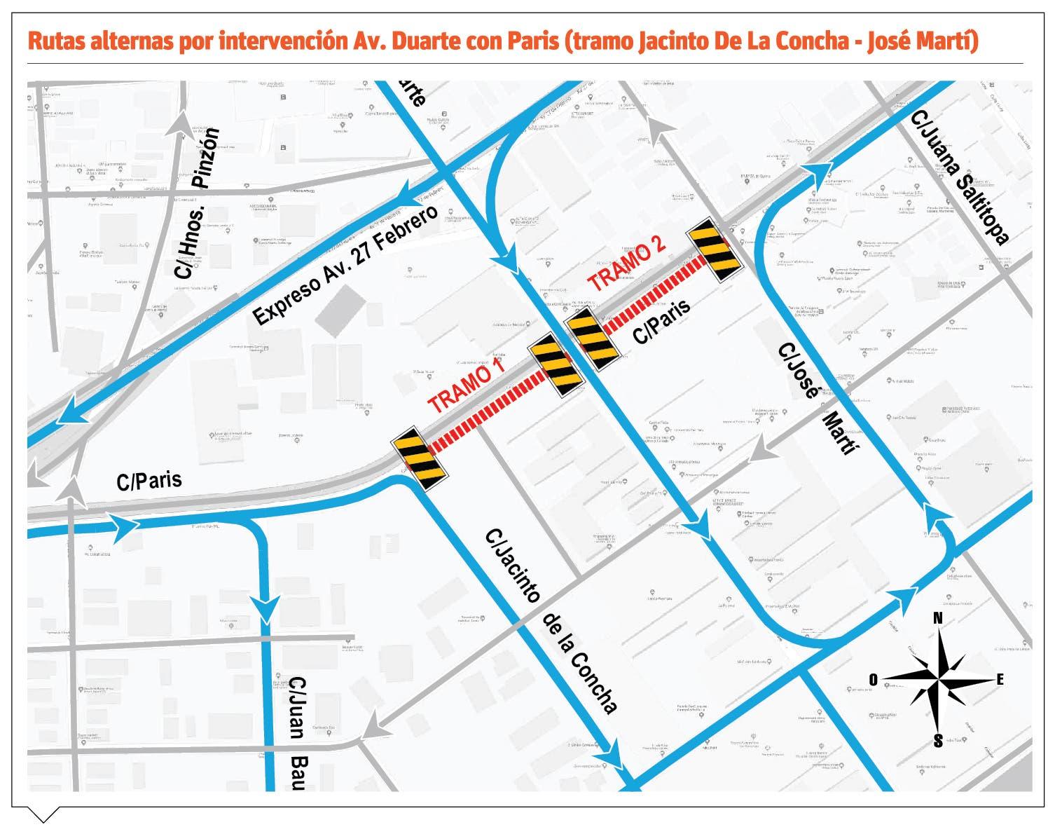 Patrón vial Duarte con París esta listo para inicio proyecto