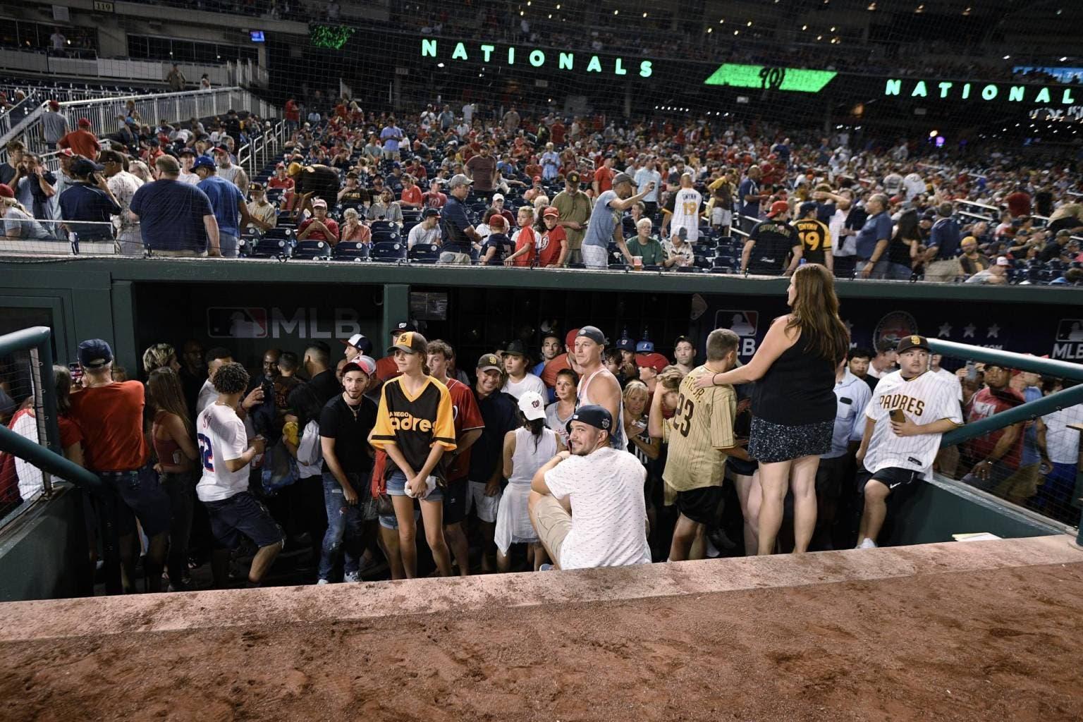 Se suspende juego Padres-Nacionales por tiros afuera de parque