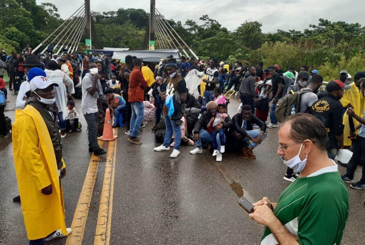 Inmigrantes con paso a Panamá y Colombia