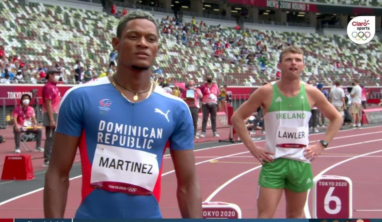 Yancarlos Martínez avanza a la semifinal de los 200 metros en Juegos Olímpicos