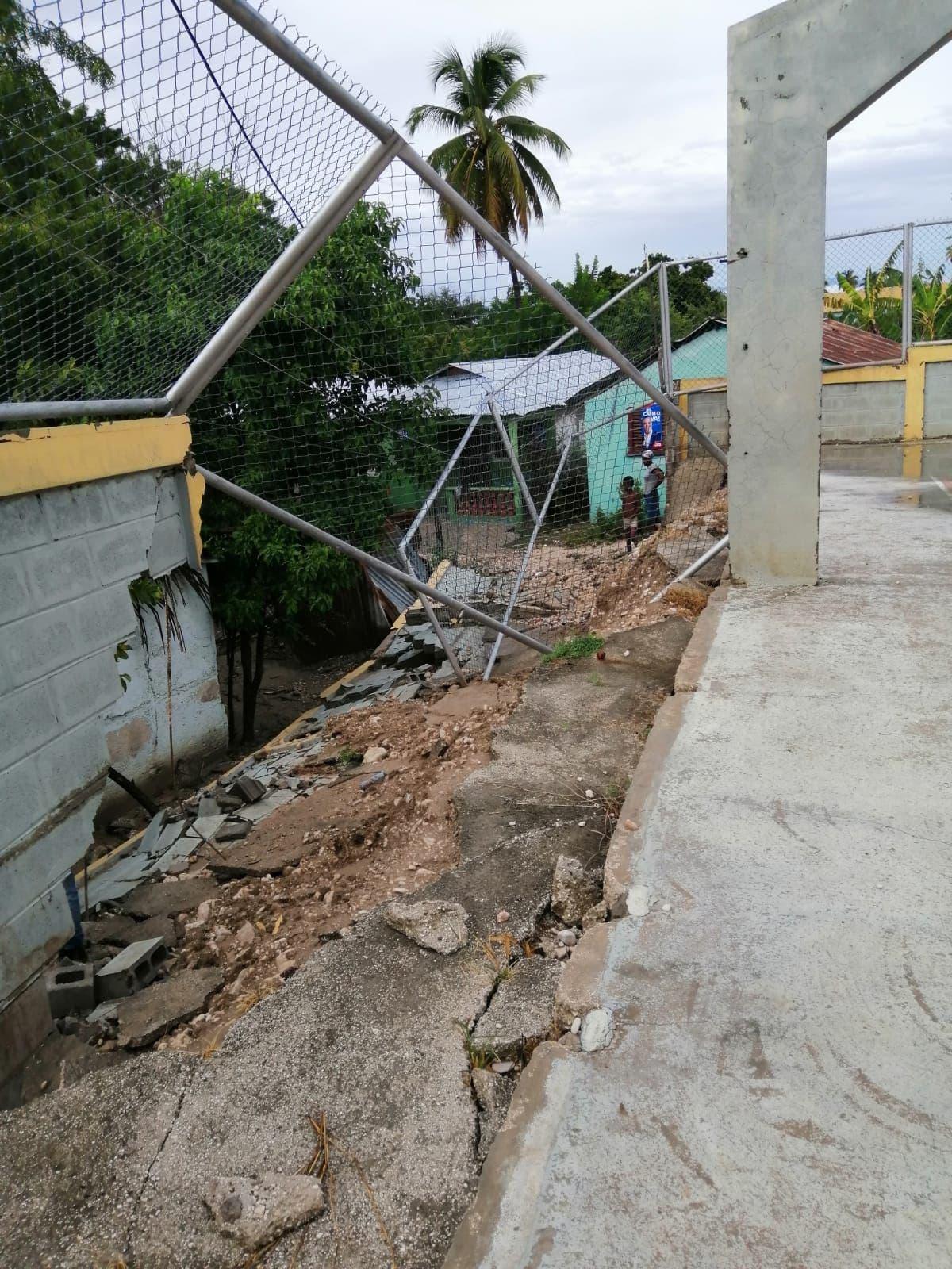 Cuatro escuelas resultaron afectadas por la tormenta Fred