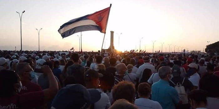 Comunistas cubanos convocan una marcha pro-Gobierno en plena crisis de Covid-19