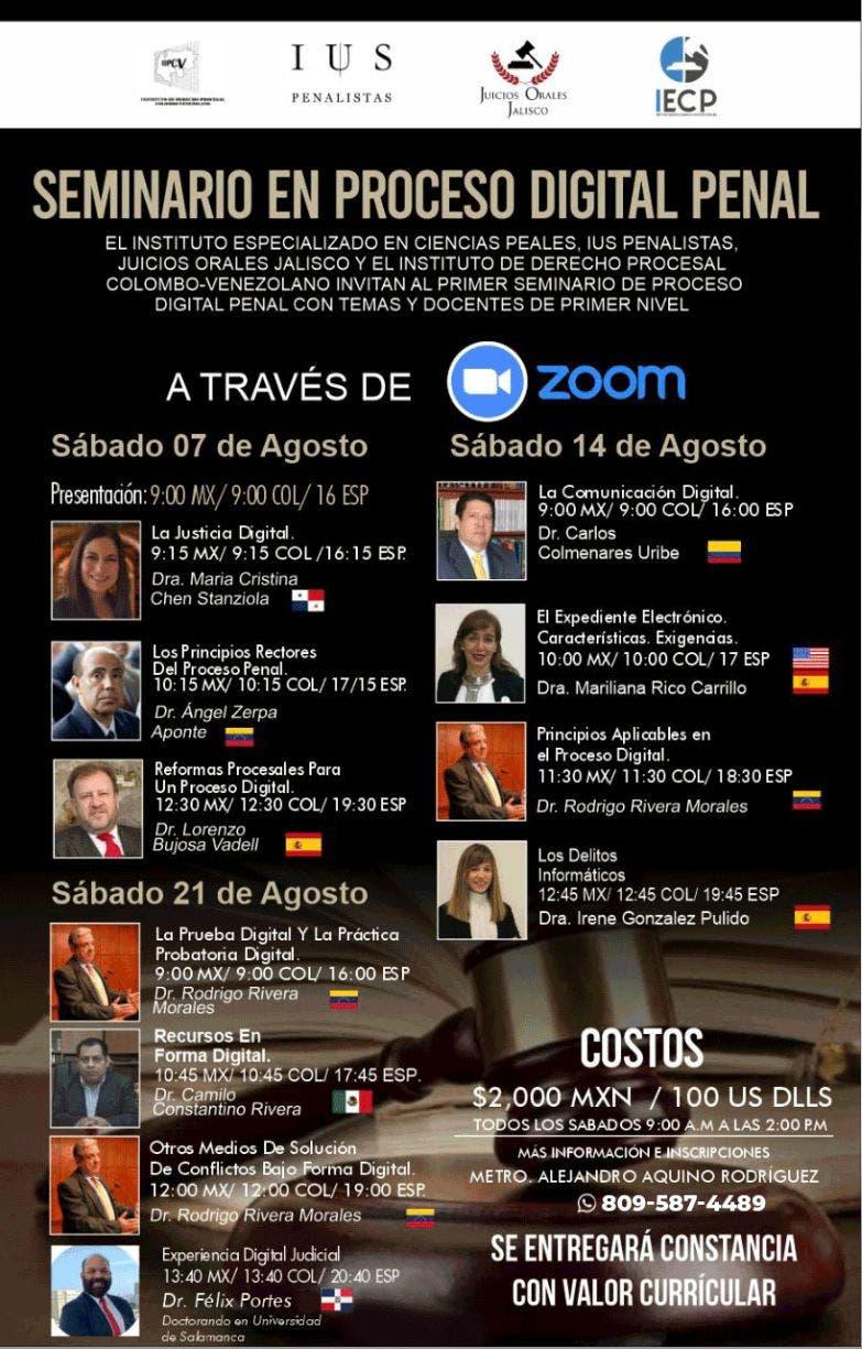 """INACIPE realizará «Seminario en Proceso Digital Penal"""""""
