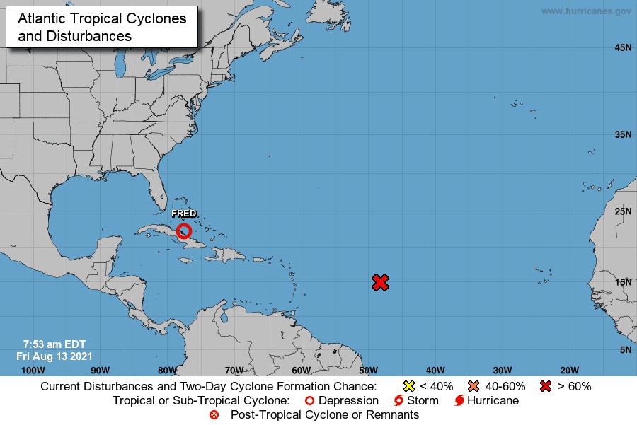 Fred avanza a Florida, podría recuperar estatus de tormenta