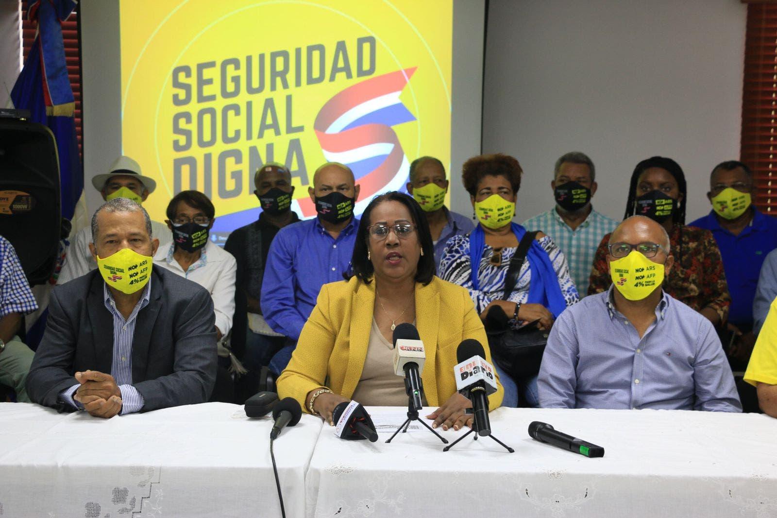 Coalición marchará por Seguridad Social