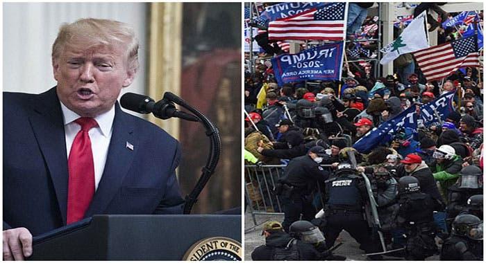 Policías del capitolio demandan a Trump por insurrección