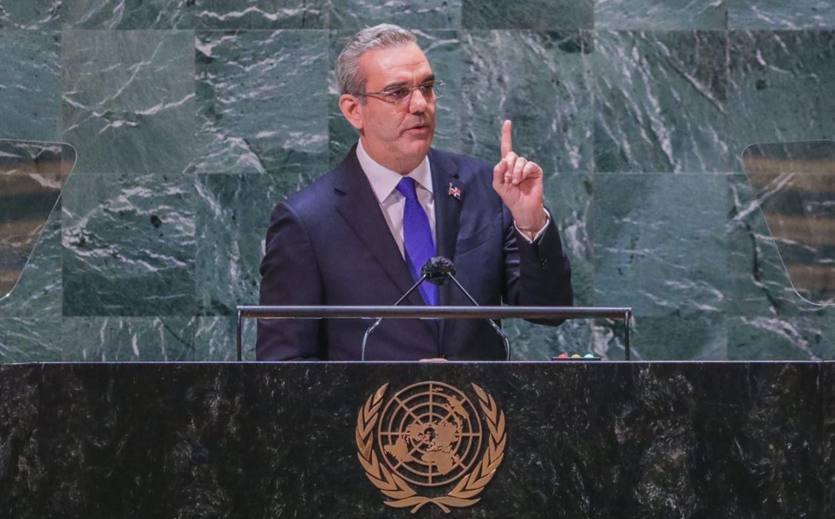 Luis Abinader dice en ONU: 'En RD no hay ni habrá solución a la crisis de Haití'