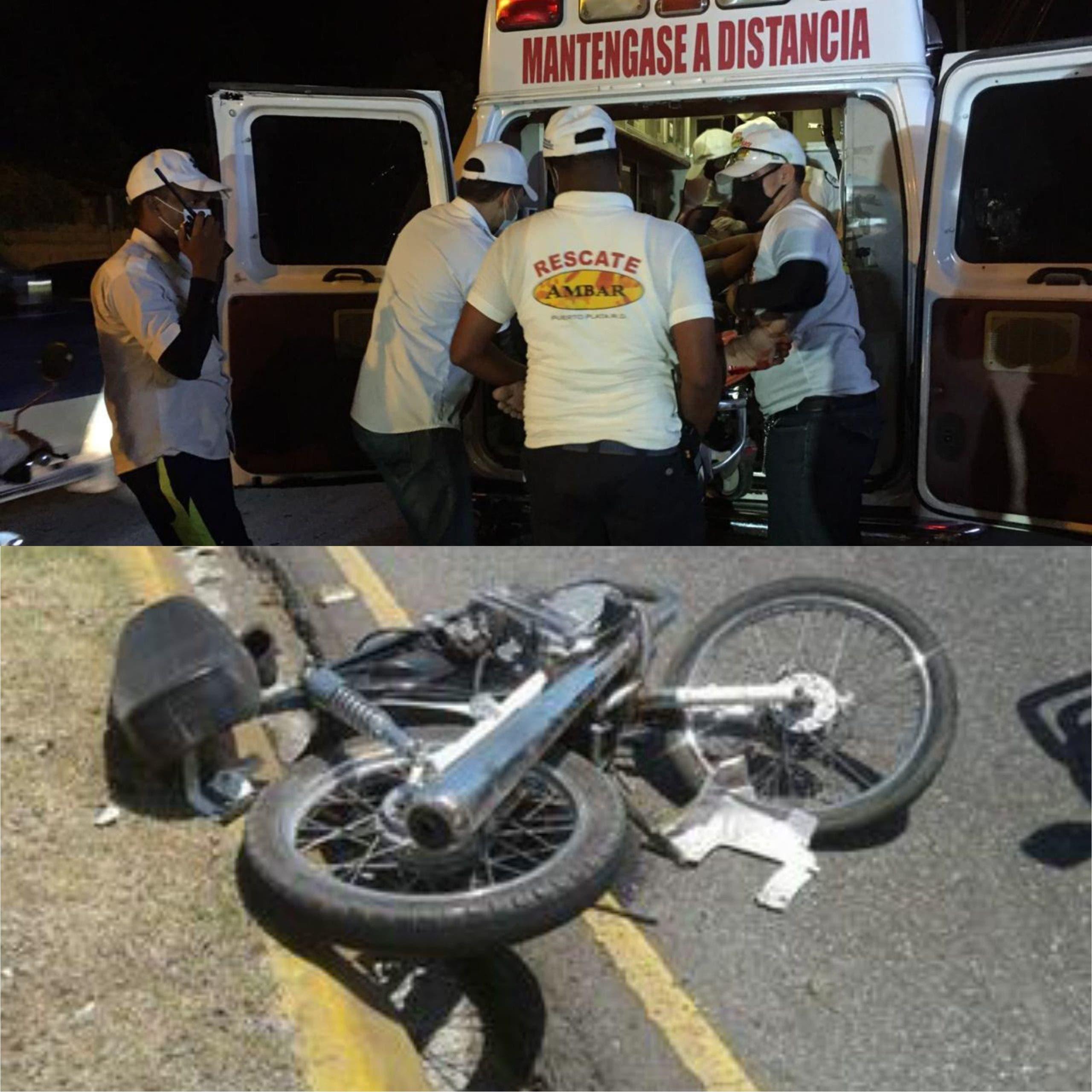 Accidentes dejan dos muertos y varios heridos en Puerto Plata