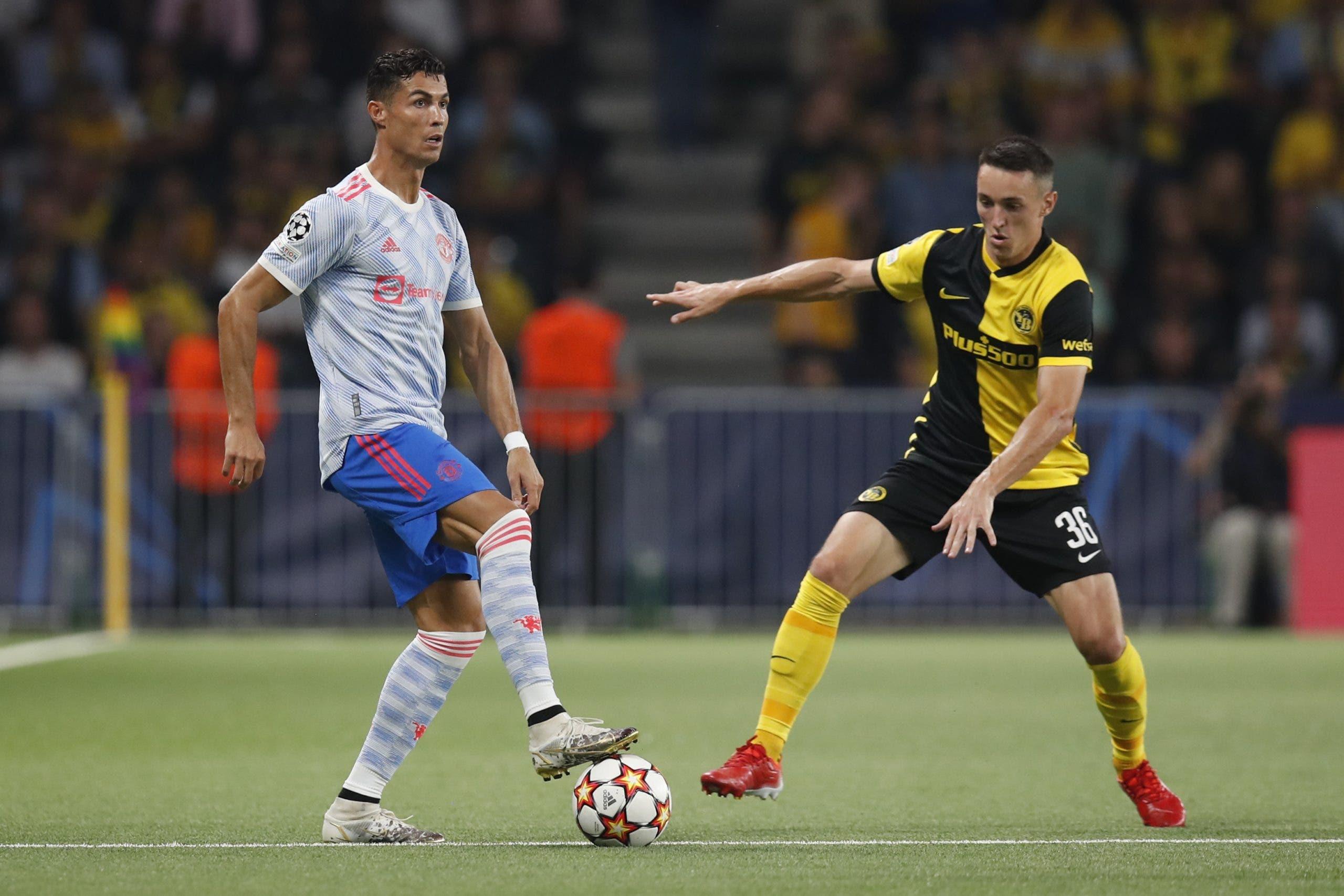 Cristiano Ronaldo anota, pero Man U cae 2-1 ante Young Boys