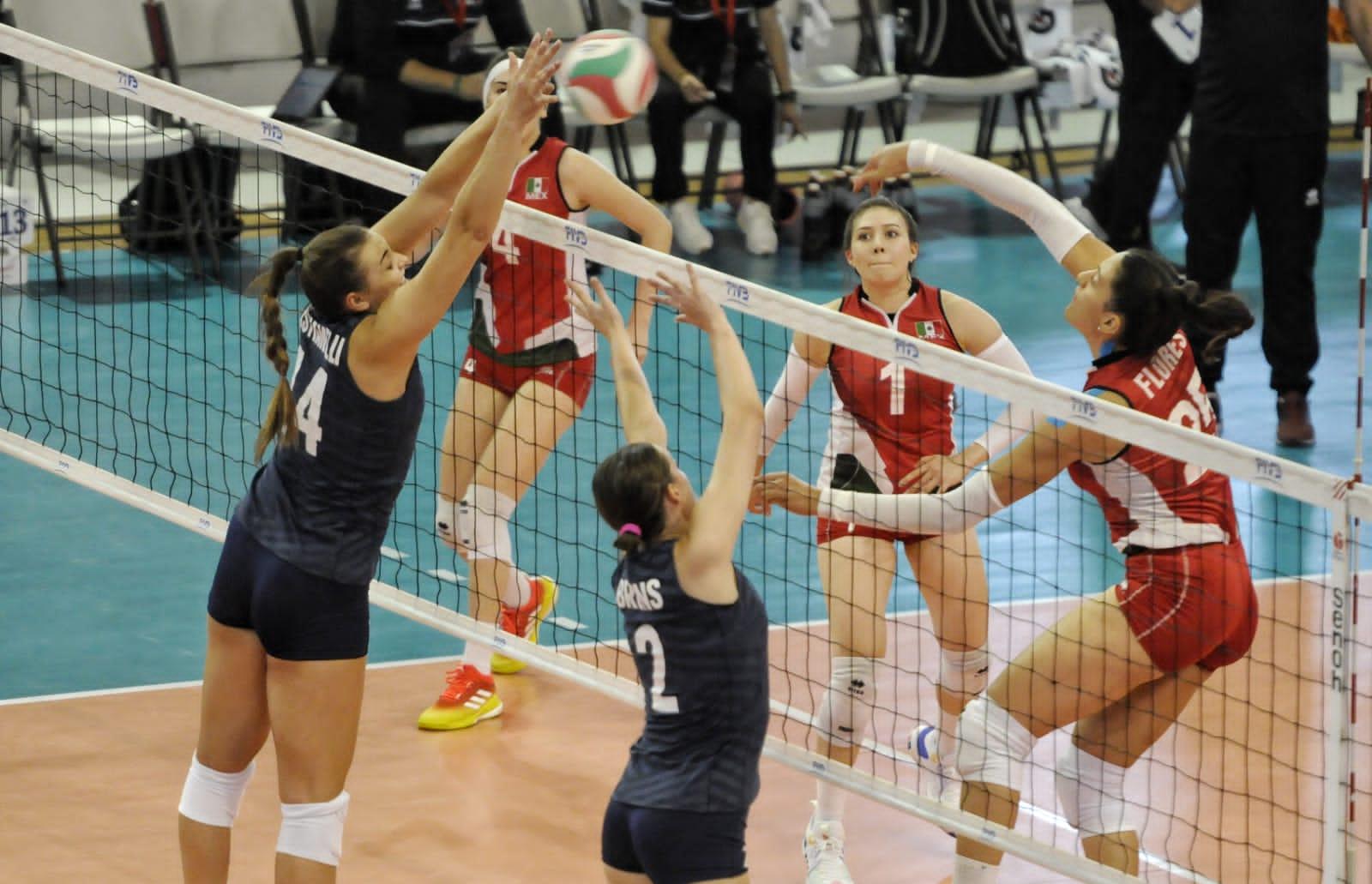 Estados Unidos dispone 3-1 de México en voleibol femenino