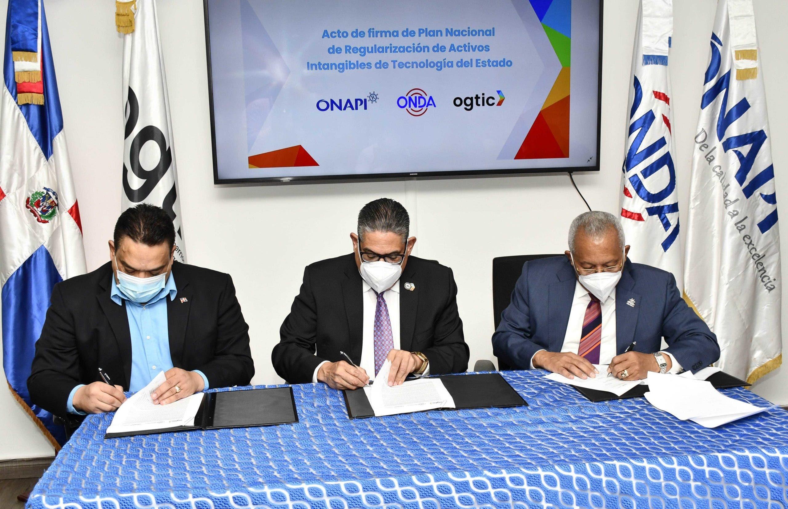 OGTIC, ONDA y ONAPI acuerdan regularizar activos intangibles tecnológicos del Estado