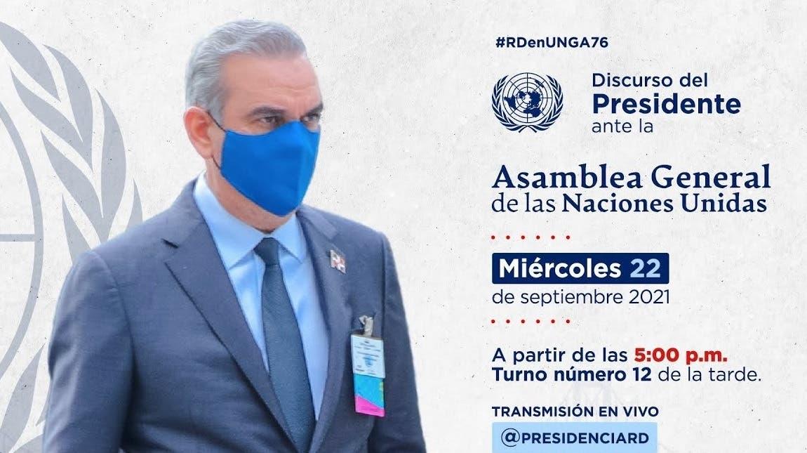 En vivo: Discurso del presidente Luis Abinader ante la ONU