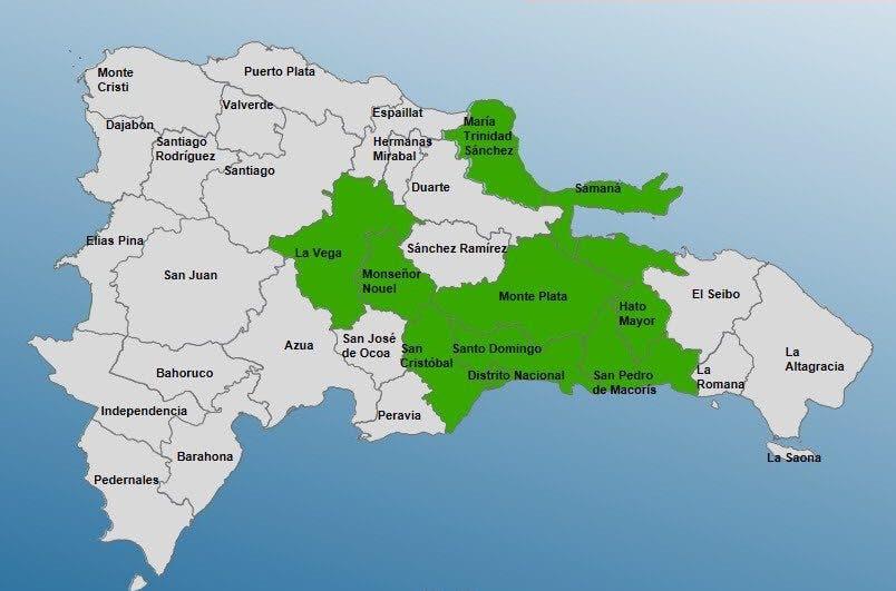 COE emite alerta verde para nueve provincias por incremento de las lluvias